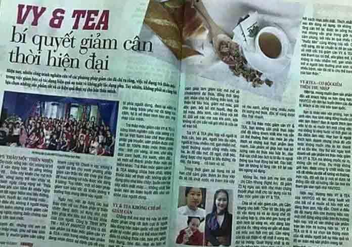 bao chi noi ve vy tea
